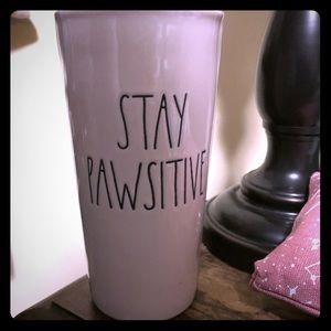 Rae Dunn Ceramic Coffee Travel mug Stay Pawsitive